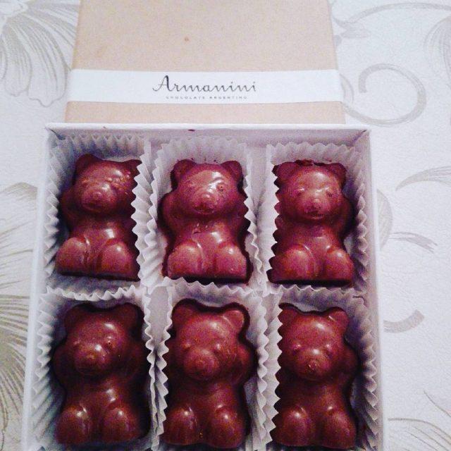 Osos de chocolate rellenos