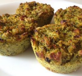 Muffins de bròcoli sin tacc