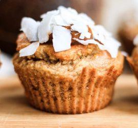Muffins de avellanas y bananas