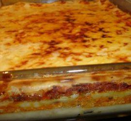 Lasagna de carne, jamón y ricota