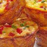 Muffins de acelga y pimientos